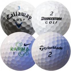 Mix značek golfových míčků (Callaway, Bridgestone, Nike, TaylorMade) - 50 kusů