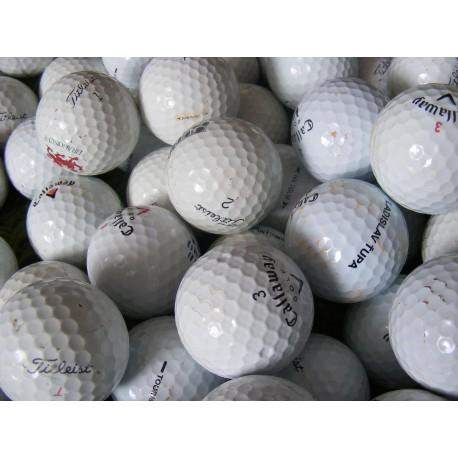 Trénink mix 4-vrstvé golfové míče (Titleist Pro V1, Callaway HX Tour) - 50 +10 kusů ZDARMA