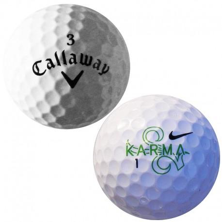Mix golfových míčků značek Callaway, Nike - 100 kusů