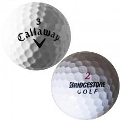 Mix golfových míčků značek Callaway, Bridgestone - 50 kusů