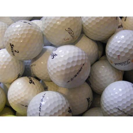 Trénink mix 4-vrstvé golfové míče (Titleist Pro V1, Srixon Z-Star) - 50 +10 kusů ZDARMA - C