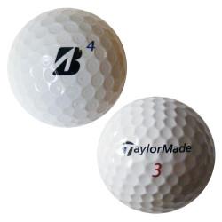Trénink mix 4-vrstvé golfové míče (TaylorMade Penta, Bridgestone B330) - 50 +10 kusů ZDARMA - C