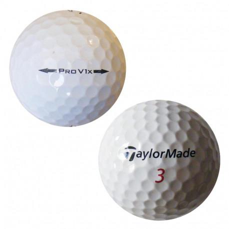 Trénink mix 4-vrstvé golfové míče (Titleist Pro V1, TaylorMade Penta) - 50 +10 kusů ZDARMA - C