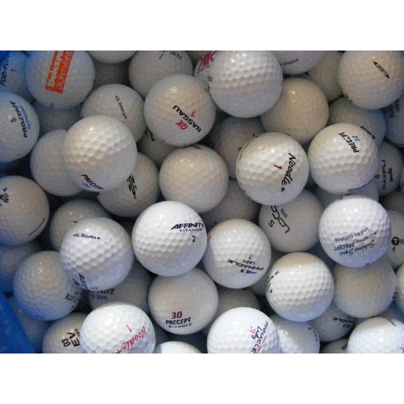 Kvalita golfových míčků A/B