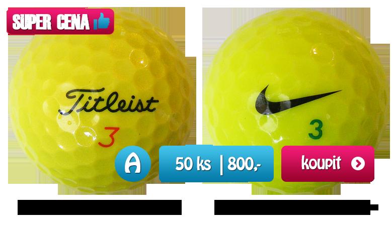 Zelené golfové míčky