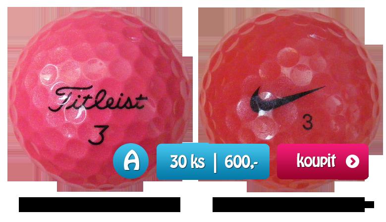 Růžové golfové míčky