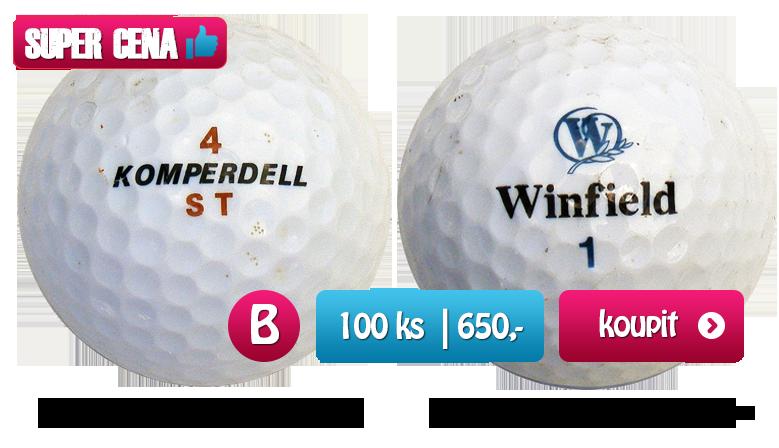 Smíšené golfové míčky - kvalita B