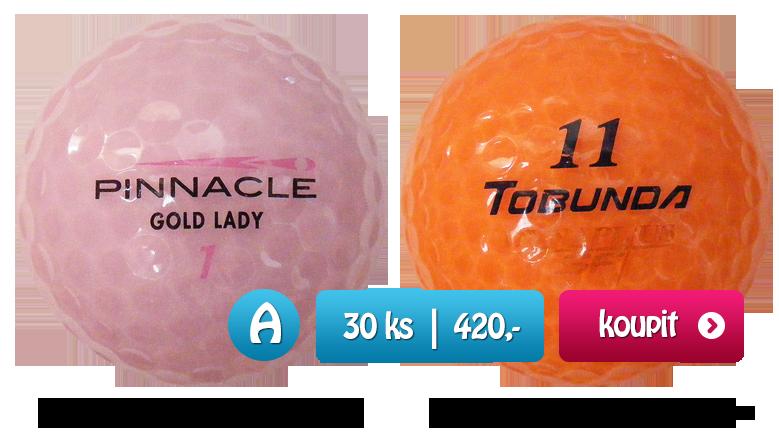 Barevné transparentní perleťové golfové míčky