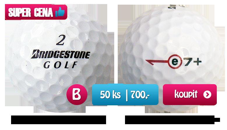 Bridgestone e+mix golfové míčky - 50 kusů - kvalita B