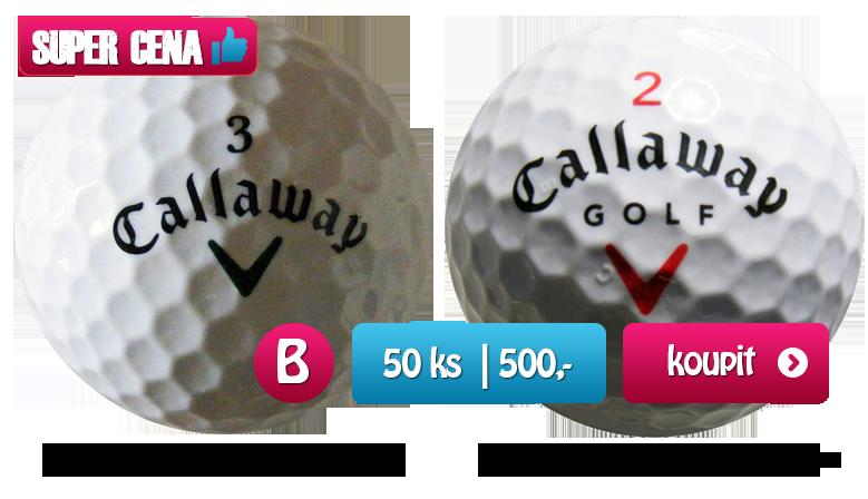 Callaway mix golfové míčky - 50 kusů - kvalita B