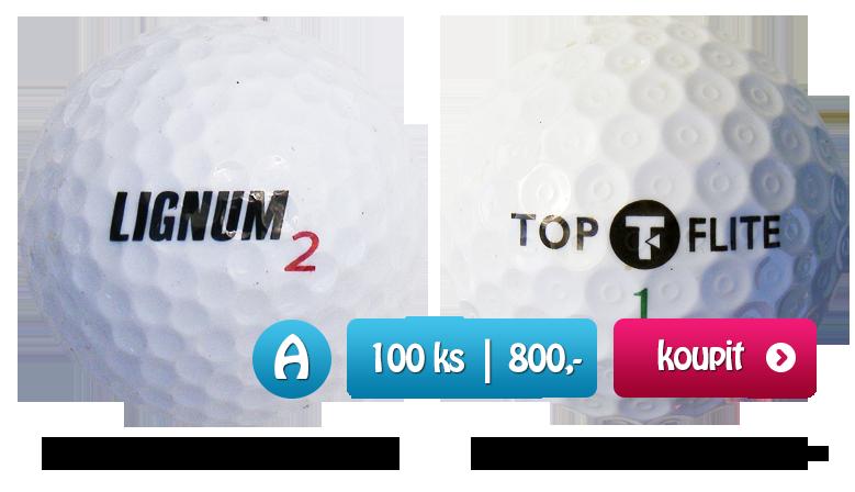 Smíšené značky golfových míčků